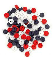 Jesse James Dress It Up Tiny Buttons-Patriotic, , hi-res