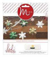 Heidi Swapp Minc Christmas 24 pk 3D Paper Snowflake Banner Kit, , hi-res