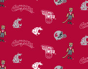 "Washington State University Cougars Fleece Fabric 58""-All Over, , hi-res"