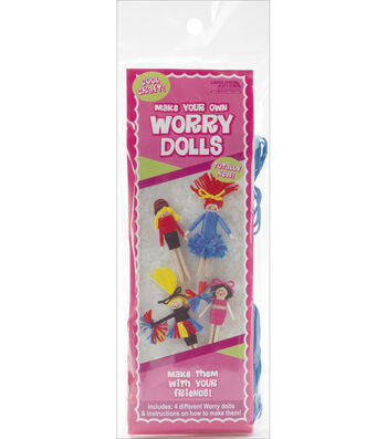 Worry Dolls Kit Makes 4-Cheerleader