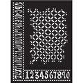 Ranger® Dylusions Dyan Reaveley 9\u0027\u0027x12\u0027\u0027 Stencil-Alphabet Border