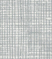 "Keepsake Calico™ Cotton Fabric 43""-Crosshatch Silver Metallic, , hi-res"