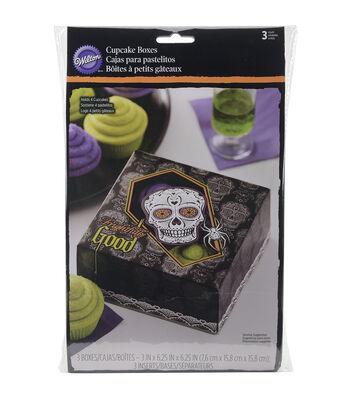 Wilton Cupcake Boxes 4 Cavity 3/Pkg-Deadly Soiree