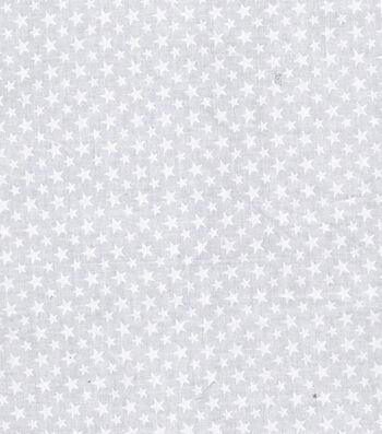 "Patriotic Cotton Fabric 43""-White Stars"