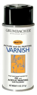 Grumbacher 11 oz. Picture, Oil & Acrylic Painting Varnish Spray-Matte