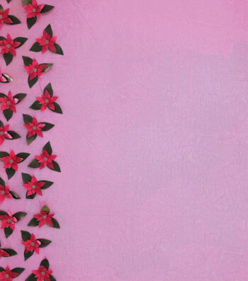 """Sew Sweet Decorating 3D Fabric 56""""-Poinsettia Border Red"""