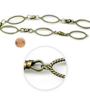 "Blue Moon Beads 14"" Strand, Metal Chain Links, Ox Brass, , hi-res"