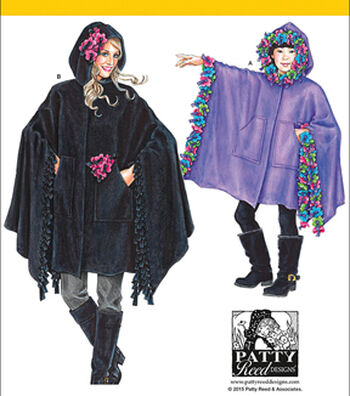 Simplicity Patterns Us8018A-Simplicity Child'S, Girls' And Misses' Fleece Ponchos-S - L / S - L