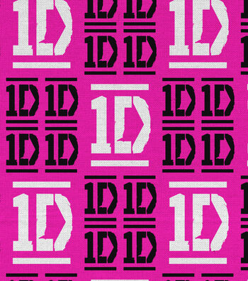 """One Direction Flannel Fabric 43""""-Checkered Logo"""