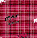 University of Arkansas Razorbacks Cotton Fabric 43\u0022-Plaid
