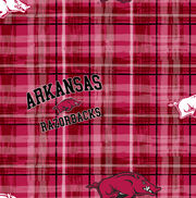 "University of Arkansas Razorbacks Cotton Fabric 43""-Plaid, , hi-res"