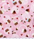 Novelty Cotton Fabric 44\u0027\u0027-Tossed Cupcakes