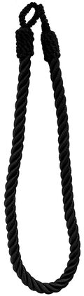 Ss 26in Black Tieback Twisted 3-ply