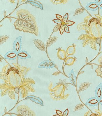 "Williamsburg Upholstery Fabric 52""-Kerala Emb/Moonstone"