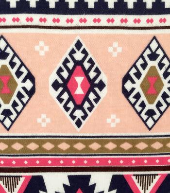 "Doodles Juvenile Apparel Fabric 57""-Large Scale Aztec Interlock"