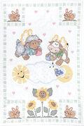 Stamped White Quilt Crib Top 40\u0022X60\u0022-Heavenly Creatures