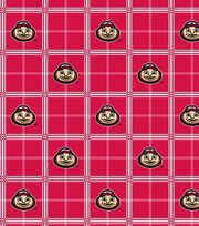 "Ohio State University Buckeyes Flannel Fabric 42""-Plaid, , hi-res"