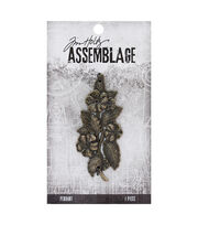 Tim Holtz® Assemblage 2.75'' Bloom Antique Brass Pendant, , hi-res