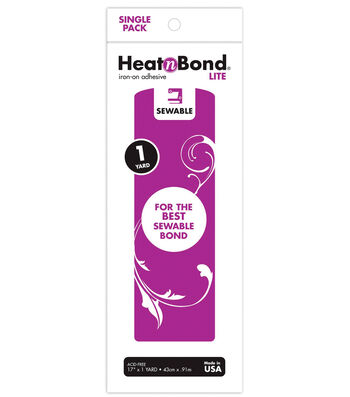 "Heatnbond Lite Iron-on Adhesive 17""x36'"