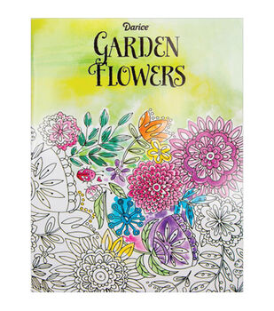 adult coloring book darice garden flowers - Coloring Books