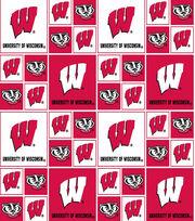 "University of Wisconsin Badgers Cotton Fabric 44""-Block, , hi-res"