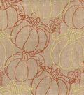 Autumn Inspirations Fabric-Pumpkins Burlap Met