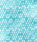 Luxe Flannel Fabric 42\u0022-Aqua Textured Scatter