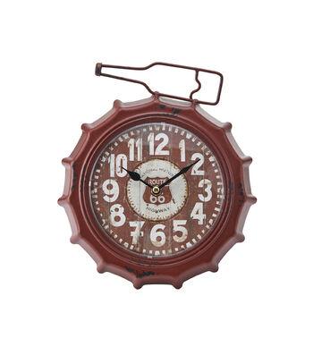 Soda Cap Table Clock 10''x9''-Red