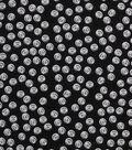 1930\u0027s Cotton Fabric 43\u0027\u0027-Tossed Buttons on Black