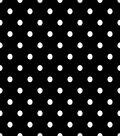 Fabric Central Cotton Fabric-Dot Black