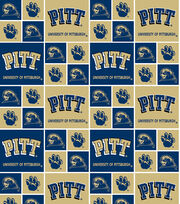 "University of Pittsburgh Panthers Cotton Fabric 43""-Block, , hi-res"