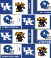 "University of Kentucky Wildcats Cotton Fabric 44""-Herringbone Box, , hi-res"