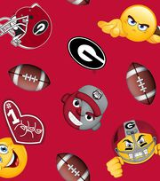 "University of Georgia Bulldogs Fleece Fabric 60""-Emoji, , hi-res"