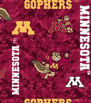 "University of Minnesota Gophers Fleece Fabric 60""-Digital Camo, , hi-res"