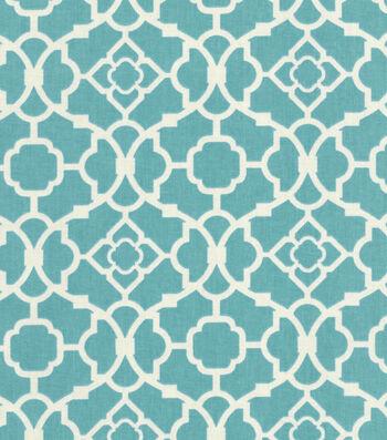 "Waverly Upholstery Fabric 55""-Lovely Lattice Aqua"