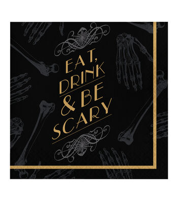 Maker's Halloween 20 Pack Paper Napkins-Eat, Drink & Be Scary