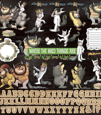 """Where The Wild Things Are Cardstock Stickers 12""""X12"""""""