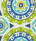 Home Decor 8\u0022x8\u0022 Fabric Swatch-Waverly Solar Flair Lime & Indigo