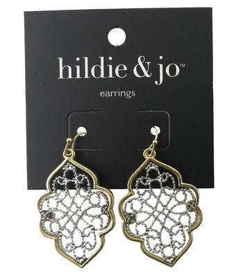 hildie & jo™ Cutout Antique Gold & Silver Earrings