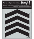 Stencil1 11\u0027\u0027x11\u0027\u0027 Repeat Wallpaper Stencil-Chevron Full