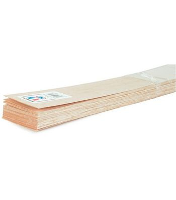 "Balsa Wood 36"" Sheets-15PK/1/8""x4"""