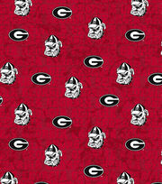 "University of Georgia Bulldogs Cotton Fabric 43""-Distressed, , hi-res"