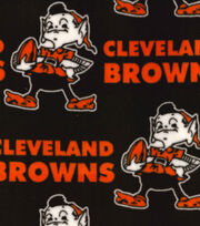 "Cleveland Browns Fleece Fabric 58""-Retro, , hi-res"