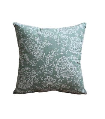 Hudson 43 Farm 18''x18'' Print Pillow-Paisley on Green