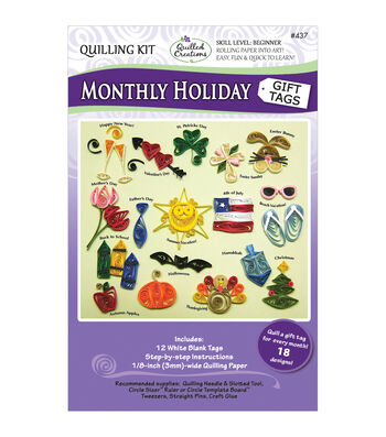 Quilled Creations Monthly Holiday Gift Tags Quilling Kit