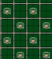 "Ohio University Bobcats Flannel Fabric 42""-Plaid, , hi-res"