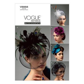 Vogue Patterns Misses Headgear-V8868