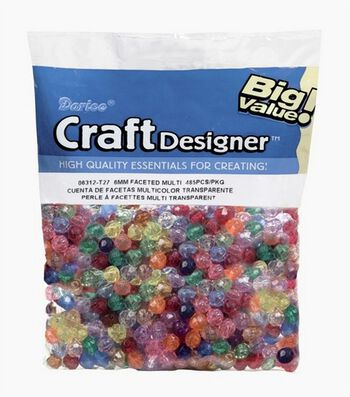 Big Value Faceted Beads-Multi