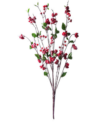 Blooming Holiday Christmas 30'' Berry Spray-Red