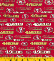 "San Francisco 49ers Cotton Fabric 58""-Glitter, , hi-res"